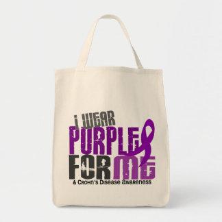 I Wear Purple For ME 6 Crohn's Disease Tote Bag