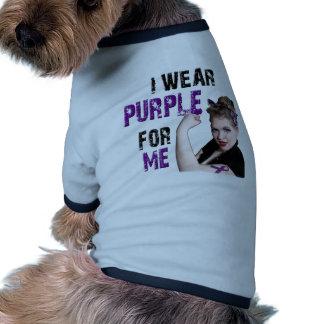 I wear Purple for ME Pet Shirt