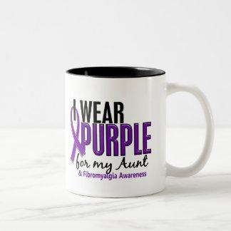 I Wear Purple For My Aunt 10 Fibromyalgia Two-Tone Mug