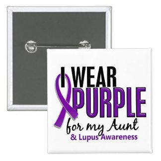 I Wear Purple For My Aunt 10 Lupus 15 Cm Square Badge
