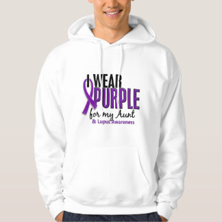 I Wear Purple For My Aunt 10 Lupus Hooded Sweatshirts