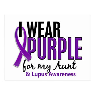 I Wear Purple For My Aunt 10 Lupus Postcard