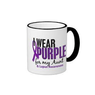I Wear Purple For My Aunt 10 Lupus Ringer Mug