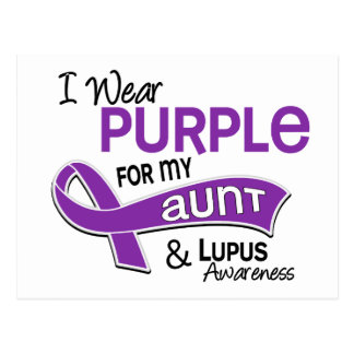 I Wear Purple For My Aunt 42 Lupus Postcard