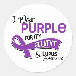 I Wear Purple For My Aunt 42 Lupus Round Sticker