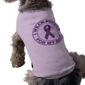 I Wear Purple For My Aunt Sleeveless Dog Shirt