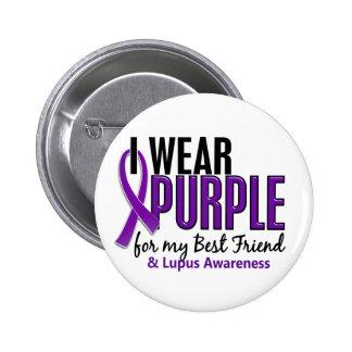 I Wear Purple For My Best Friend 10 Lupus 6 Cm Round Badge