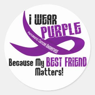 I Wear Purple For My Best Friend 33 Apparel Sticker