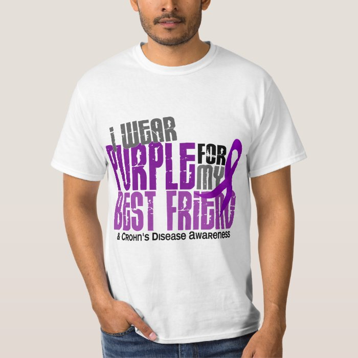 I Wear Purple For My Best Friend 6 Crohn's Disease T-Shirt