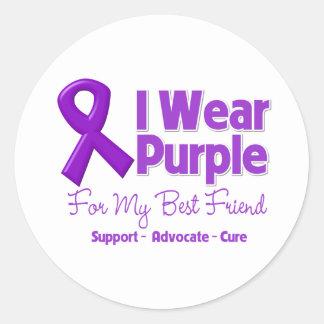 I Wear Purple For My Best Friend Sticker