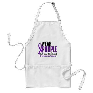 I Wear Purple For My Boyfriend 10 Epilepsy Adult Apron