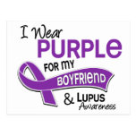 I Wear Purple For My Boyfriend 42 Lupus Postcard