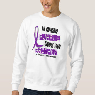 I Wear Purple For My Brother 37 Epilepsy Sweatshirt