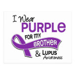 I Wear Purple For My Brother 42 Lupus Postcard