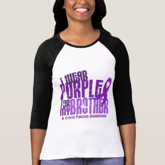 I Wear Purple For My Brother 6.4 Cystic Fibrosis T-Shirt