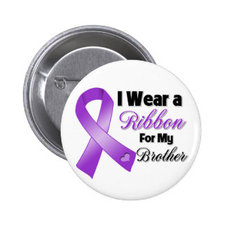 I Wear Purple For My Brother 6 Cm Round Badge