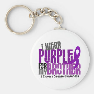 I Wear Purple For My Brother 6 Crohn's Disease Key Ring