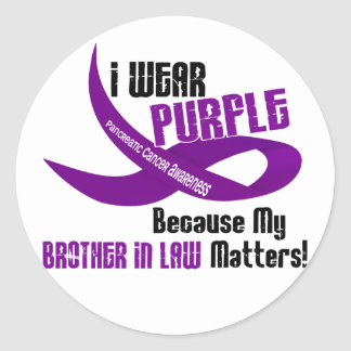 I Wear Purple For My Brother-In-Law 33 Apparel Stickers