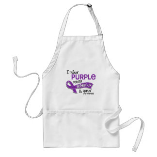 I Wear Purple For My Brother-In-Law 42 Lupus Standard Apron
