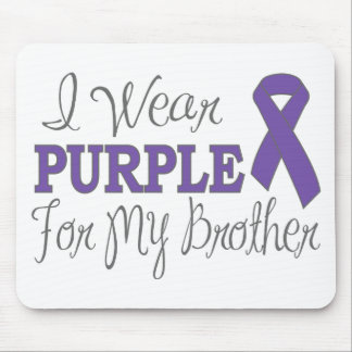I Wear Purple For My Brother (Purple Ribbon) Mouse Pads