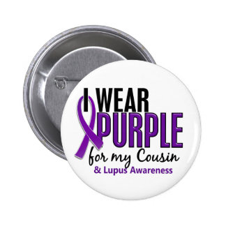 I Wear Purple For My Cousin 10 Lupus 6 Cm Round Badge