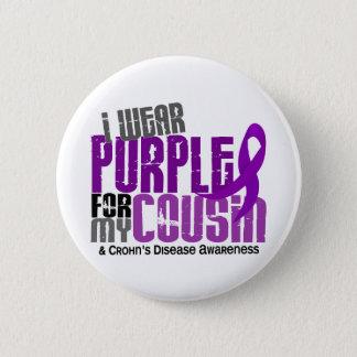 I Wear Purple For My Cousin 6 Crohn's Disease 6 Cm Round Badge