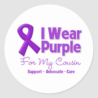 I Wear Purple For My Cousin Sticker