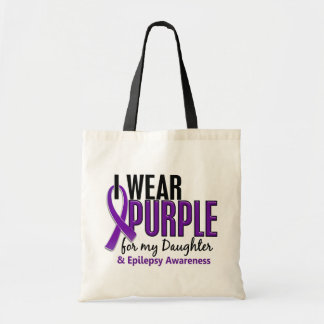I Wear Purple For My Daughter 10 Epilepsy Tote Bag