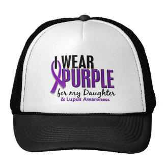 I Wear Purple For My Daughter 10 Lupus Trucker Hat