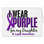 I Wear Purple For My Daughter 10 Lupus Cards