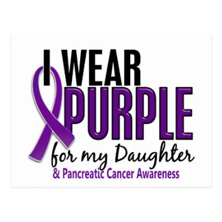 I Wear Purple For My Daughter 10 Pancreatic Cancer Postcard