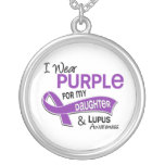 I Wear Purple For My Daughter 42 Lupus Personalised Necklace