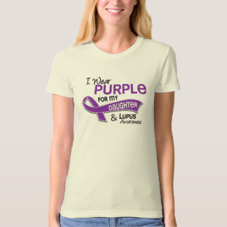 I Wear Purple For My Daughter 42 Lupus Tshirt