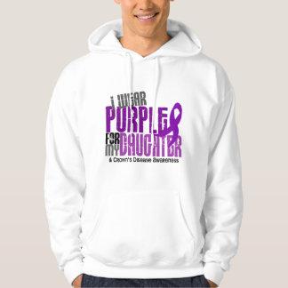 I Wear Purple For My Daughter 6 Crohn's Disease Hoodie