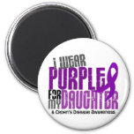 I Wear Purple For My Daughter 6 Crohn's Disease 6 Cm Round Magnet