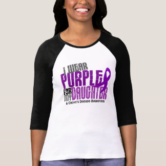 I Wear Purple For My Daughter 6 Crohn's Disease T-Shirt