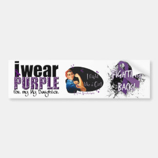 I Wear Purple For My Daughter Bumper Stickers