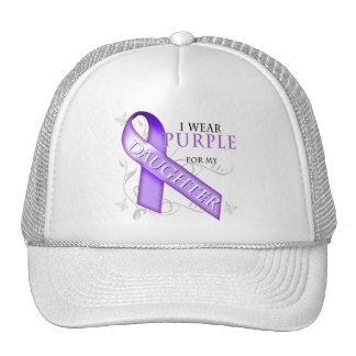 I Wear Purple for my Daughter Cap