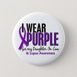 I Wear Purple For My Daughter-In-Law 10 Lupus 6 Cm Round Badge