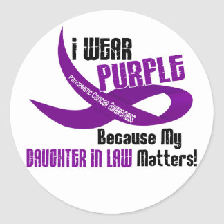 I Wear Purple For My Daughter-In-Law 33 Apparel Round Sticker