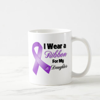 I Wear Purple For My Daughter Coffee Mugs