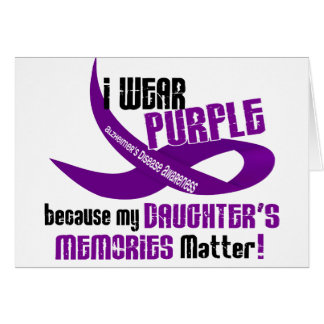 I Wear Purple For My Daughter's Memories 33 Greeting Card