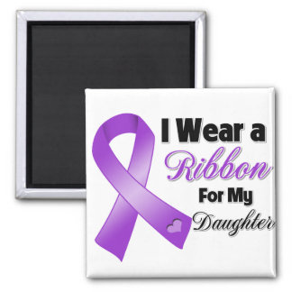I Wear Purple For My Daughter Square Magnet
