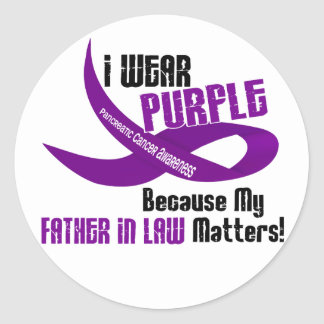 I Wear Purple For My Father-In-Law 33 Apparel Round Sticker
