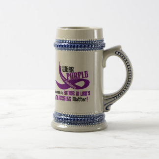 I Wear Purple For My Father-In-Law's Memories 33 Beer Steins