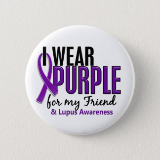 I Wear Purple For My Friend 10 Lupus 6 Cm Round Badge