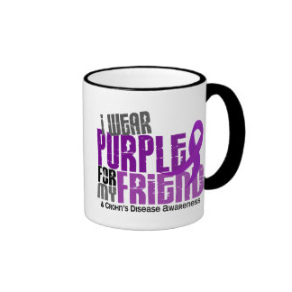 I Wear Purple For My Friend 6 Crohn's Disease Ringer Mug