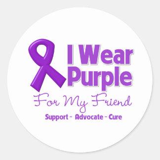 I Wear Purple For My Friend Sticker