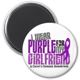 I Wear Purple For My Girlfriend 6 Crohn's Disease 6 Cm Round Magnet