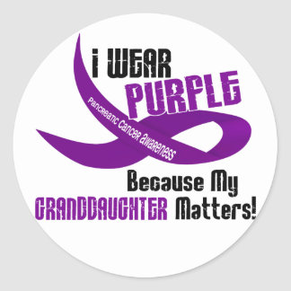 I Wear Purple For My Granddaughter 33 Apparel Classic Round Sticker